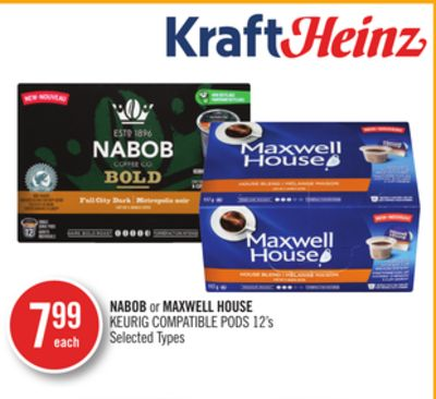 Nabob or Maxwell House Keurig Compatible PODS 12's
