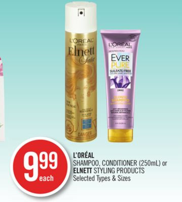 L'oréal Shampoo - Conditioner (250ml) or Elnett Styling Products