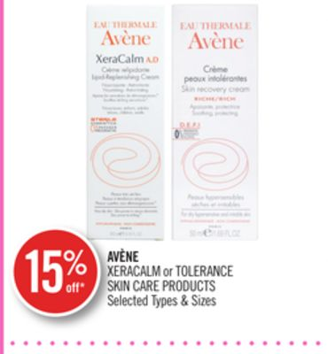 Avène Xeracalm or Tolerance Skin Care Products