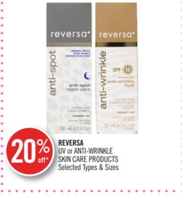 Reversa Uv or Anti-wrinkle Skin Care Products