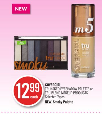 Covergirl Trunaked Eyeshadow Palette or Tru Blend Makeup Products