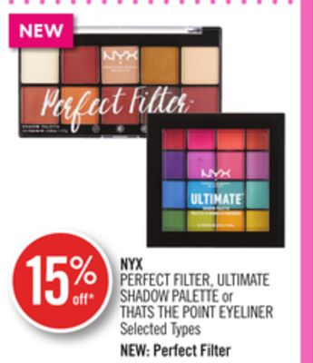 Nyx Perfect Filter - Ultimate Shadow Palette or Thats The Point Eyeliner