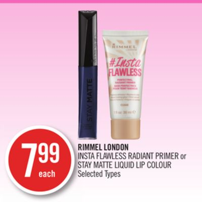 Rimmel London Insta Flawless Radiant Primer or Stay Matte Liquid Lip Colour