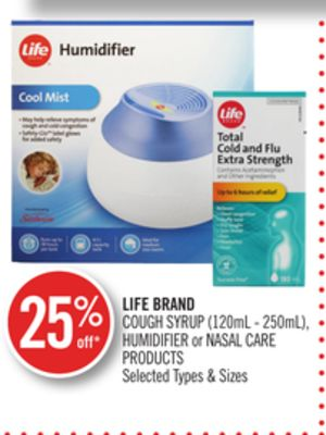 Life Brand Cough Syrup (120ml - 250ml) - Humidifier or Nasal Care Products