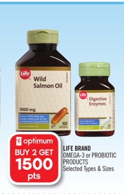 Life Brand Omega-3 or Probiotic Products