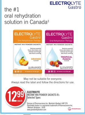 Electrolyte Instant Mix Powder Sachets 8's