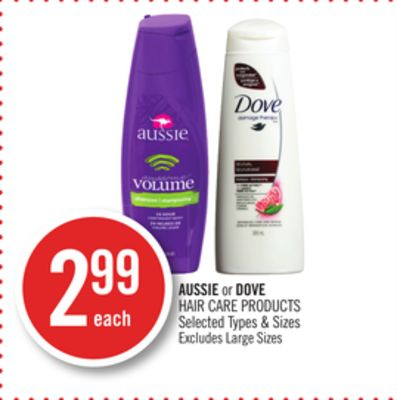 Aussie or Dove Hair Care Products