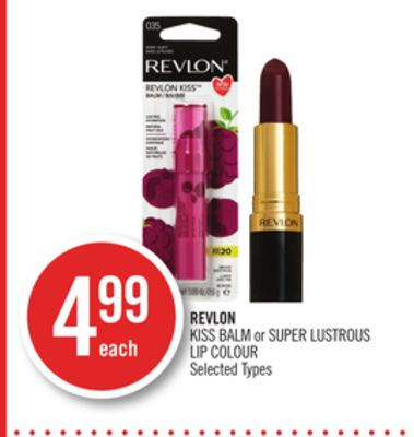 Revlon Kiss Balm or Super Lustrous Lip Colour