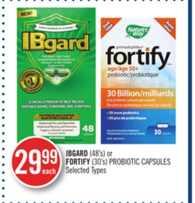 Ibgard (48's) or Fortify (30's) Probiotic Capsules