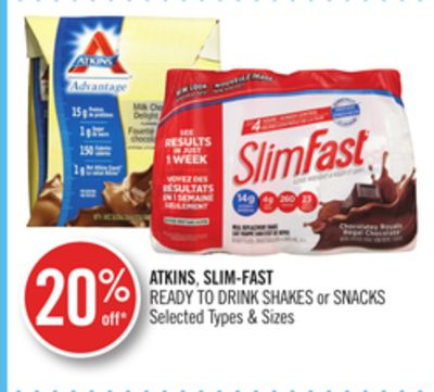 Atkins - Slim-fast Ready To Drink Shakes or Snacks