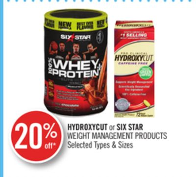 Hydroxycut or Six Star Weight Management Products