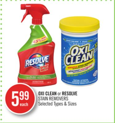 Oxi Clean or Resolve Stain Removers
