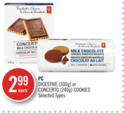 PC Digestive (300g) or Concerto (240g) Cookies