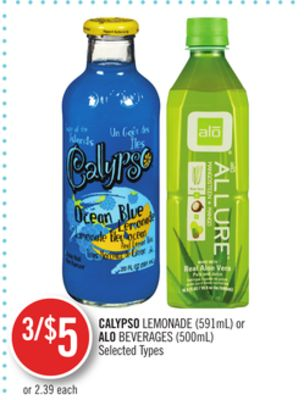 Calypso Lemonade (591ml) or Alo Beverages (500ml)