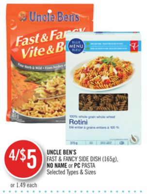 Uncle Ben's Fast & Fancy Side Dish (165g) - No Name or PC Pasta