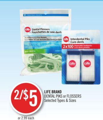 Life Brand Dental Piks or Flossers