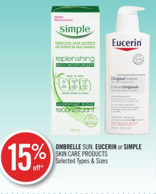 Ombrelle Sun - Eucerin or Simple Skin Care Products