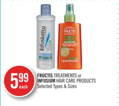 Fructis Treatments or Infusium Hair Care Products