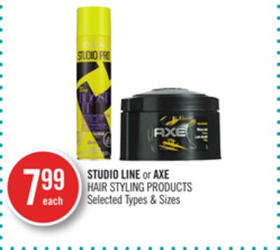 Studio Line or Axe Hair Styling Products