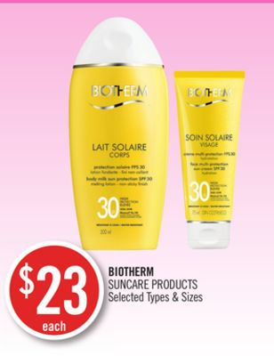 Biotherm Suncare Products