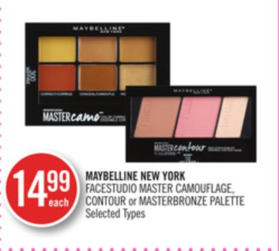 Maybelline New York Facestudio Master Camouflage - Contour or Masterbronze Palette