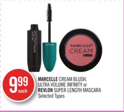 Marcelle Cream Blush - Ultra Volume Infinity or Revlon Super Length Mascara