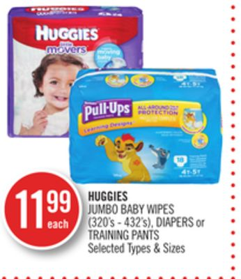 Huggies Jumbo Baby Wipes - Diapers or Training Pants