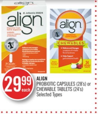 Align Probiotic Capsules (28's) or Chewable Tablets (24's)