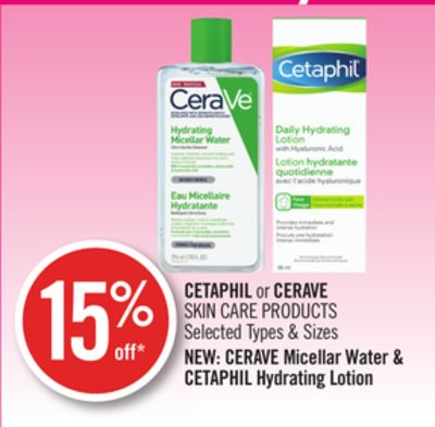 Cetaphil or Cerave Skin Care Products