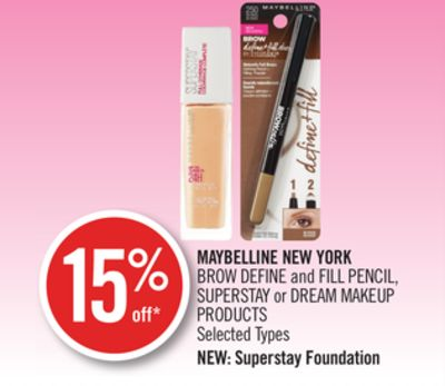 Maybelline New York Brow Define and Fill Pencil - Superstay or Dream Makeup Products
