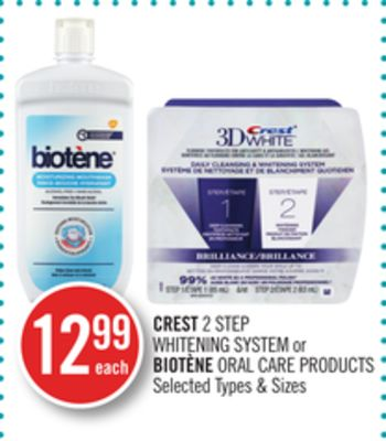 Crest 2 Step Whitening System or Biotène Oral Care Products