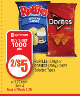 Ruffles (220g) or Doritos (255g) Chips