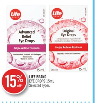 Life Brand Eye Drops 15ml