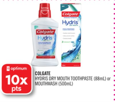 Colgate Hydris Dry Mouth Toothpaste (88ml) or Mouthwash (500ml)