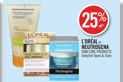 L'oréal or Neutrogena Skin Care Products
