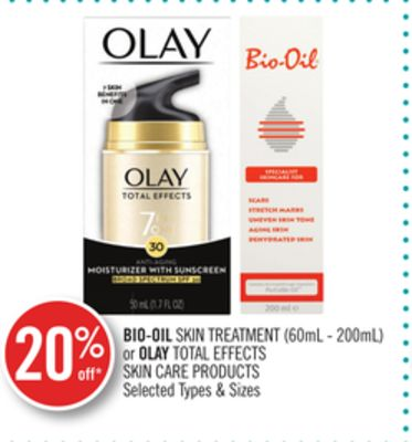 Bio-oil Skin Treatment or Olay Total Effects Skin Care Products