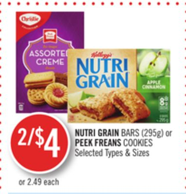 Nutri Grain Bars or Peek Freans Cookies