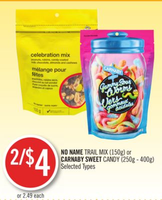 No Name Trail Mix (150g) or Carnaby Sweet Candy (250g - 400g)