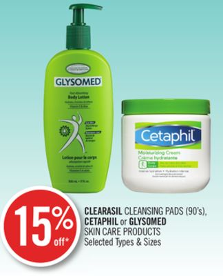 Clearasil Cleansing Pads (90's) - Cetaphil or Glysomed Skin Care Products