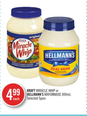 Kraft Miracle Whip or Hellmann's Mayonnaise