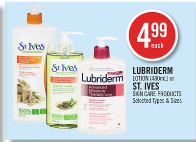 Lubriderm Lotion (480ml) or St. Ives Skin Care Products