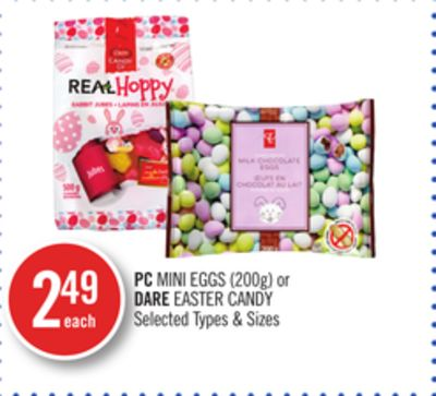 PC Mini Eggs (200g) or Dare Easter Candy