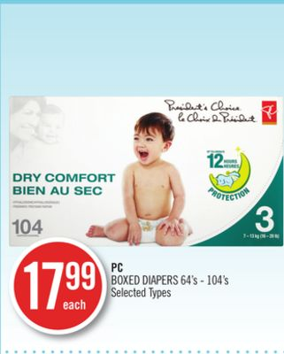 PC Boxed Diapers