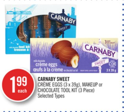 Carnaby Sweet Crème Eggs (3 X 39g) - Makeup or Chocolate Tool Kit (3 Piece)