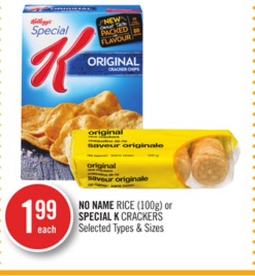 No Name Rice (100g) or Special K Crackers