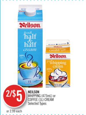 Neilson Whipping (473ml) or Coffee (1l) Cream