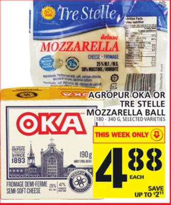 Agropur Oka Or Tre Stelle Mozzarella Ball