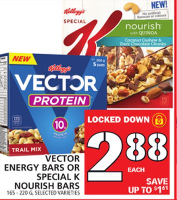 Vector Energy Bars Or Special K Nourish Bars
