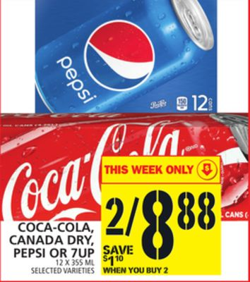 Coca-cola - Canada Dry - Pepsi Or 7up