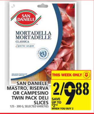 San Daniele - Mastro - Riserva Or Campesino Twin Pack Deli Slices